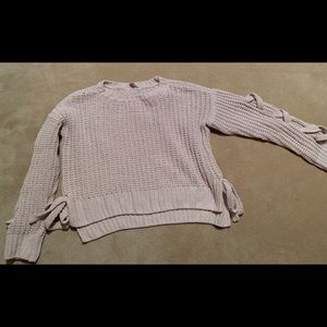 Sweater size small crop top